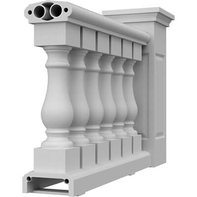 """10"""" Synthetic Stone Balustrade System"""