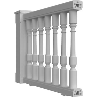 """4-1/4"""" Synthetic Stone Balustrade System"""