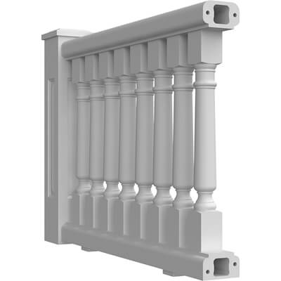 "5-3/4"" Fiberglass Balustrade System"