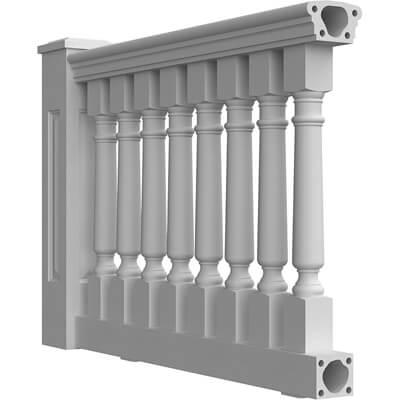"6-3/4"" Fiberglass Balustrade System"