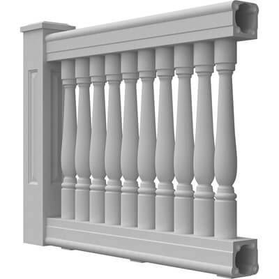 """6"""" Synthetic Stone Balustrade System"""