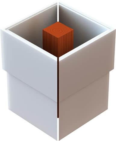Pvc column wraps non tapered available sizes for Fypon column wrap