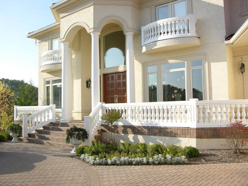 Balustrade fiberglass balustrade systems for 10 foot porch columns