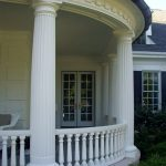 Fiberglass Fluted Columns and Wrap Around Porch Balustrades