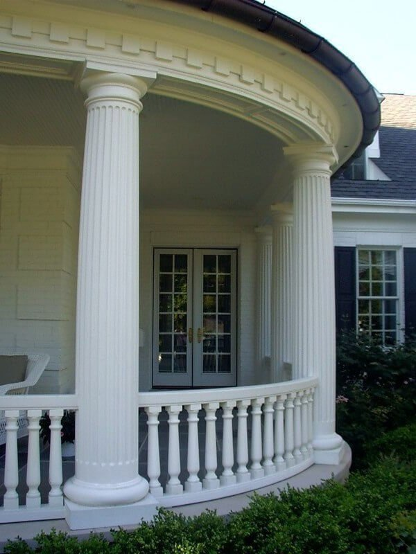 Fiberglass columns royal corinthian for Wrap around porch columns