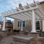 Fiberglass Pergola with Round Tapered Columns