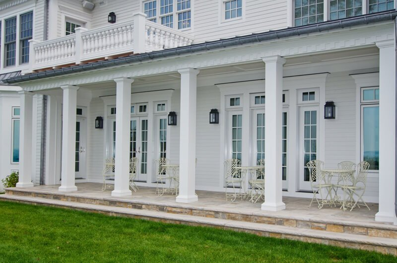 Square House With Columns : Fiberglass column covers frp columns royal corinthian