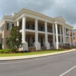 Polymer Stone Columns and Exterior Cornice
