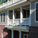 Balustrades Installed into Porch Columns