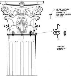 Decorative Capital Bracket Installation Method