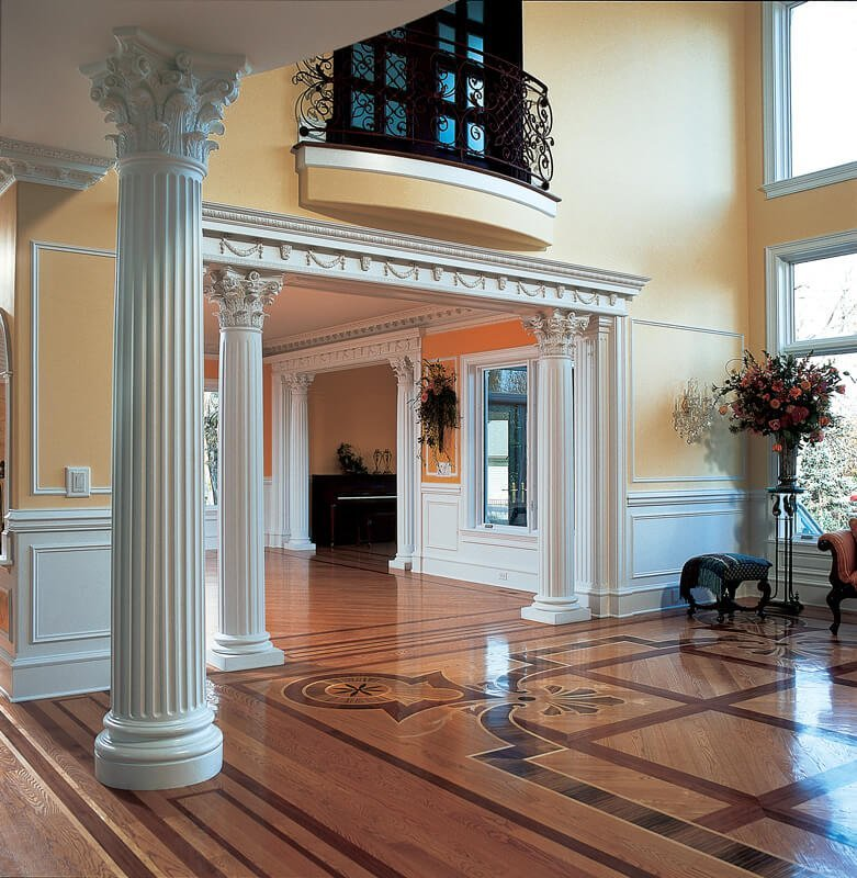 Fluted Column With Round Attic Base