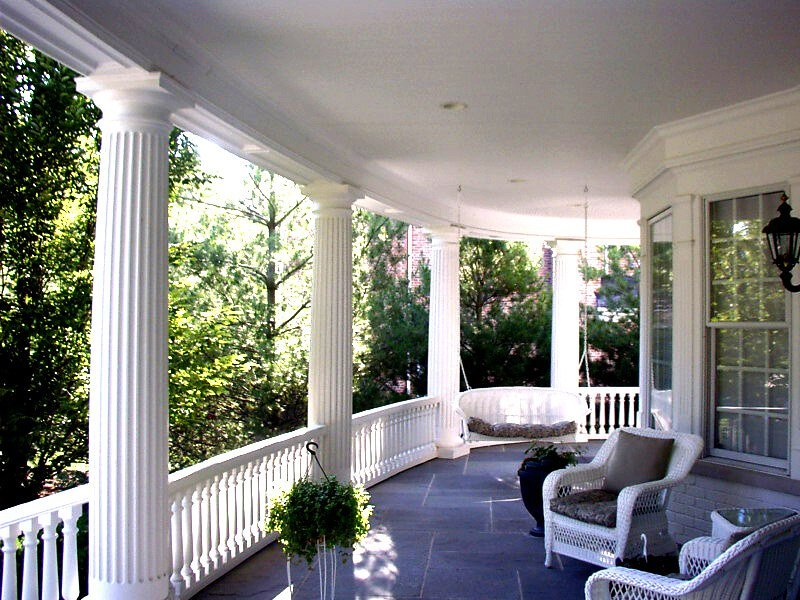 pictures porch columns decorative columns On wrap around porch columns