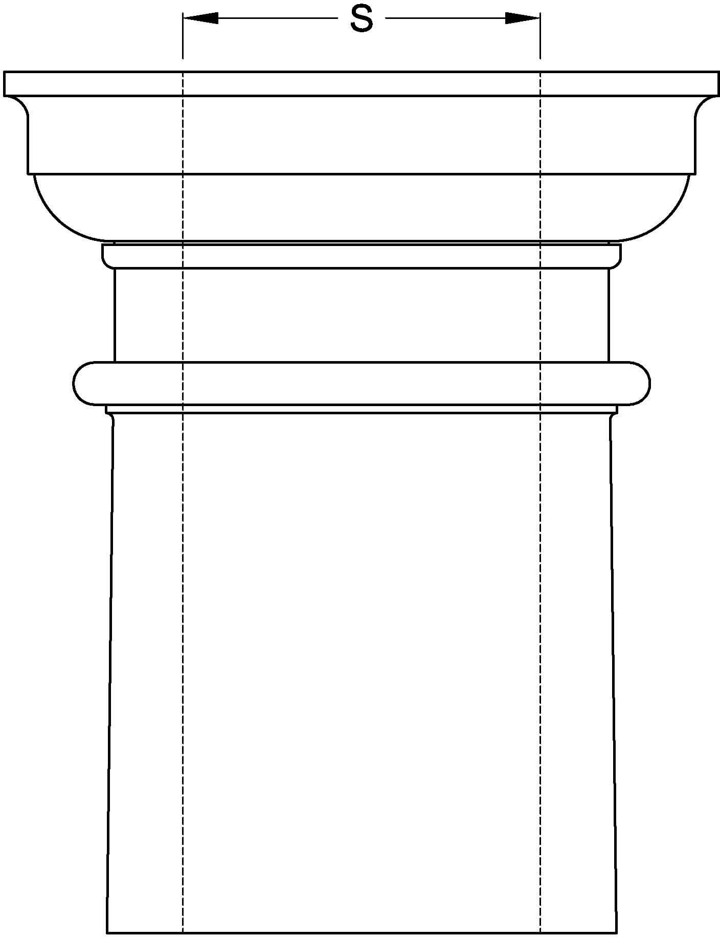 Non Tapered Column Inside Diameter