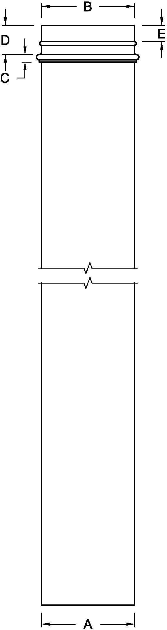 Non Tapered Column Line Drawing