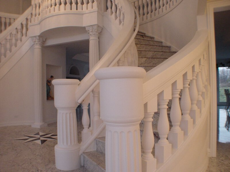 Round Balustrade Newel Posts