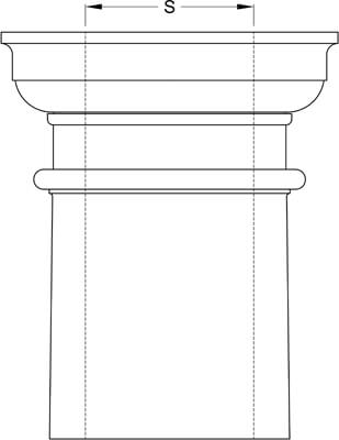 Square Non Tapered Column Inside Diameter