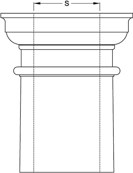 Tapered Column Inside Diameter