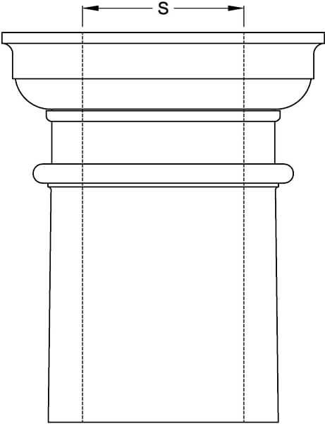 Tapered Column Inside Diameter