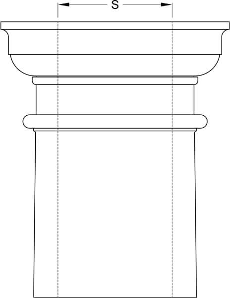 Square Tapered Column Inside Diameter