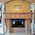 Fireplace with Square Legs