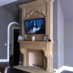 Fireplace with TV Overmantel
