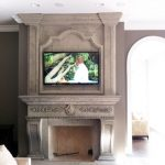 Travertine Fireplace with Overmantel