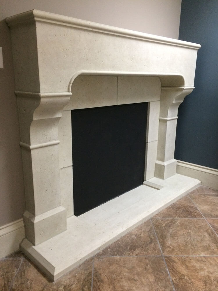 Cast Stone GFRC Fireplace Surround Addison