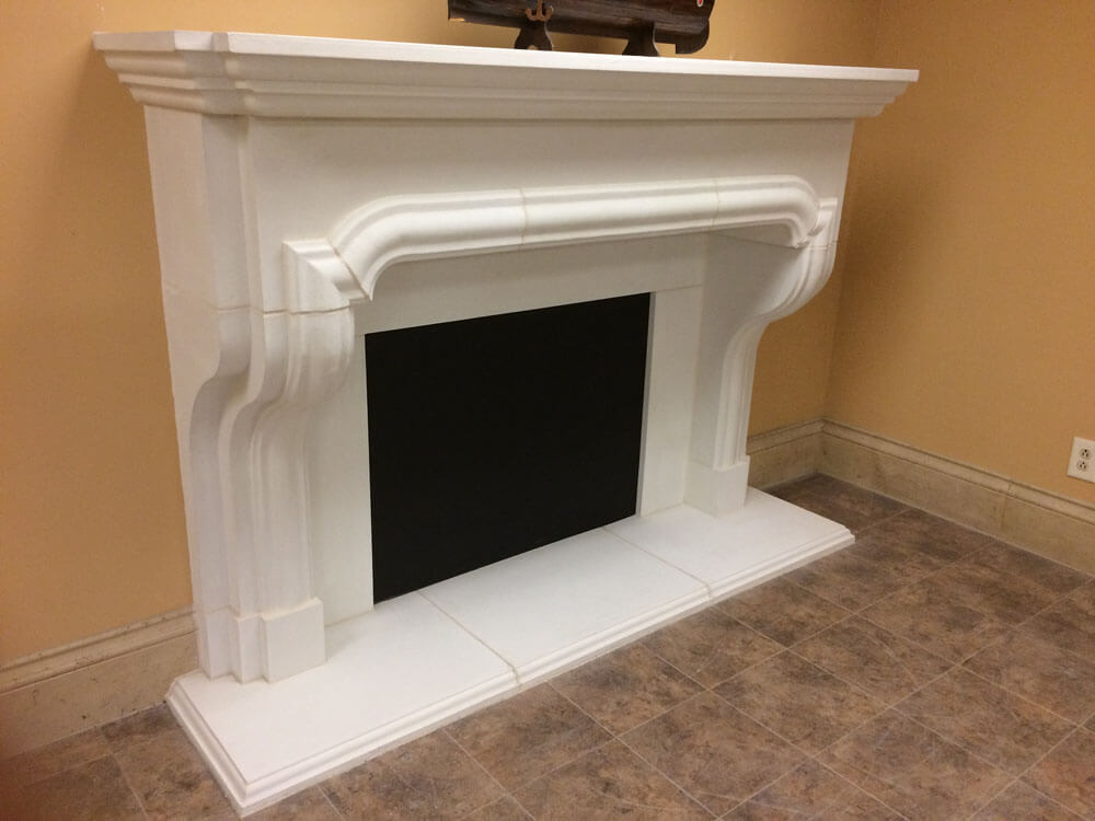 Cast Stone GFRC Fireplace Surround Castanza