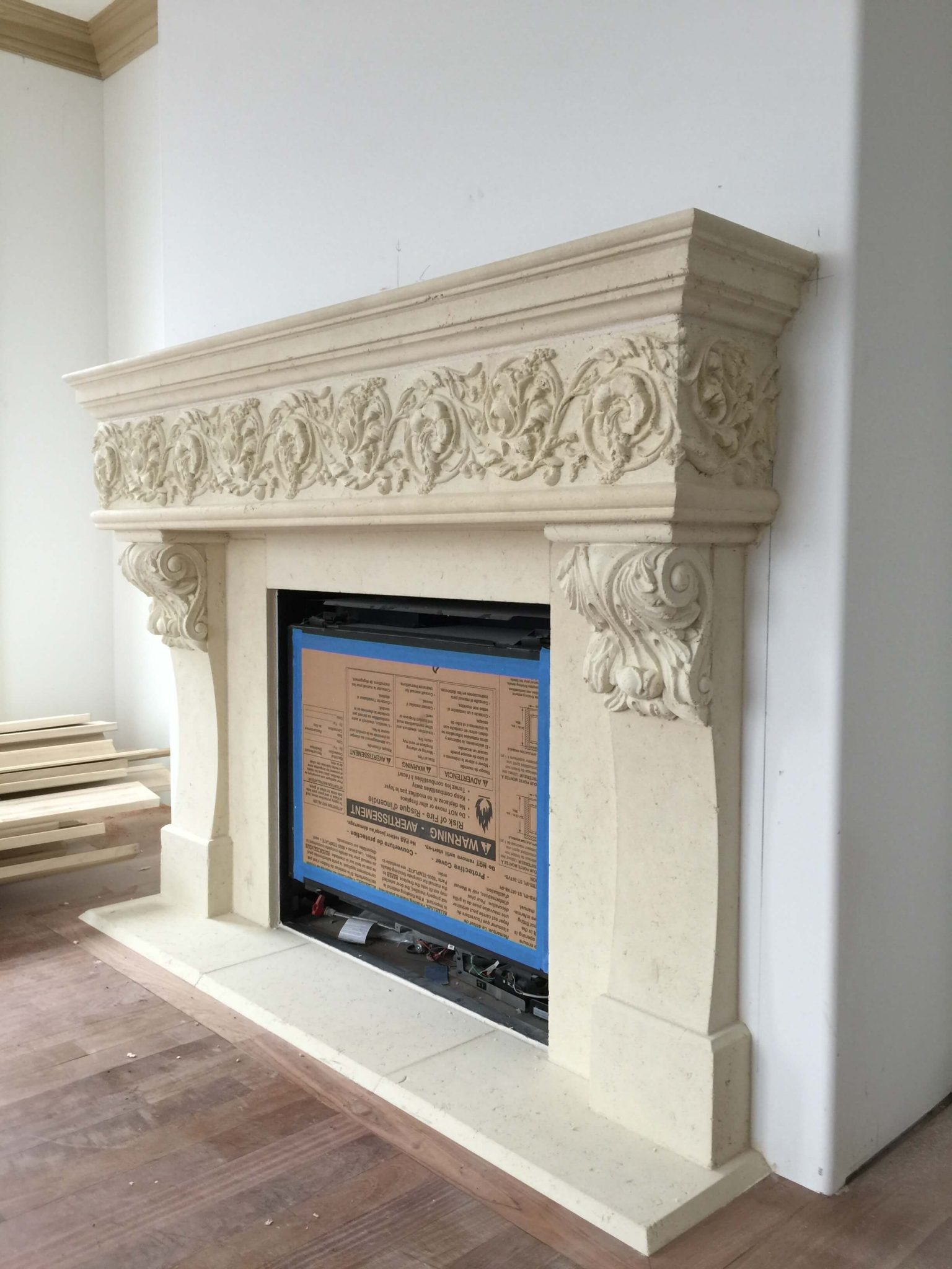 Cast Stone GFRC Fireplace Surround Dola