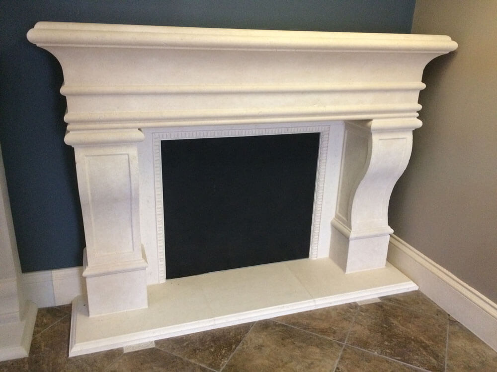 Cast Stone GFRC Fireplace Surround Grand Lux