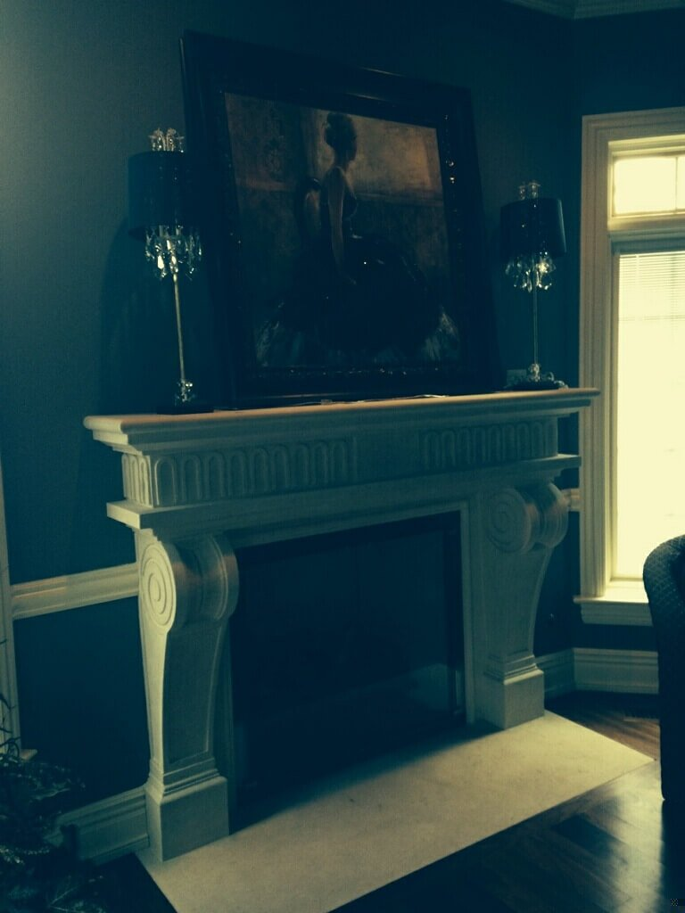 Cast Stone GFRC Fireplace Surround Ruffled Feathers I