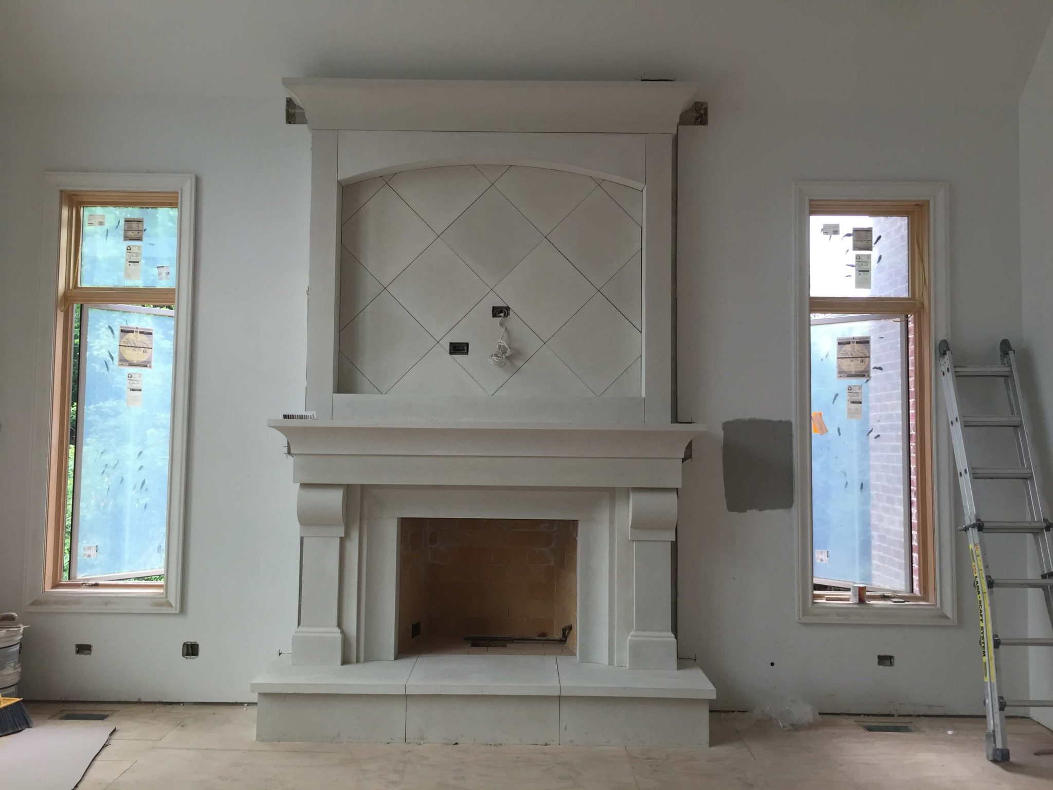 Cast Stone GFRC Fireplace Surround Vail