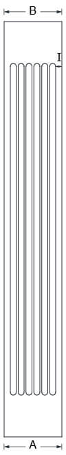 Square Fluted Column Line Drawing