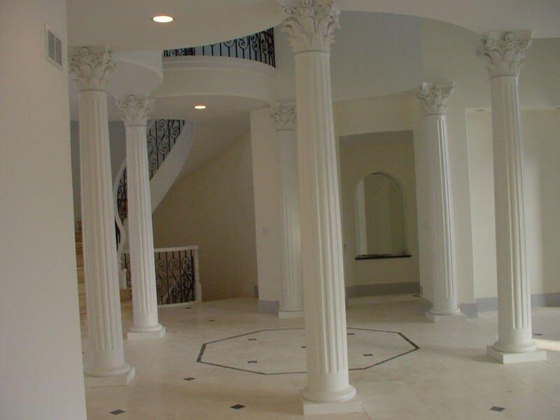 Interior Fluted Columns