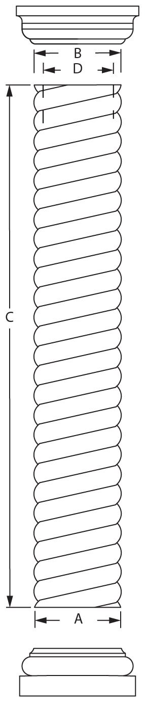 Line Drawing Javascript : Rope columns available sizes exterior interior