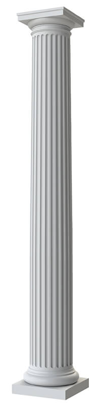 Round Tapered Fluted
