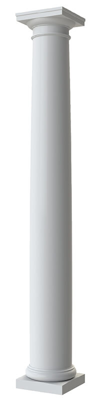 Round Tapered Plain Column