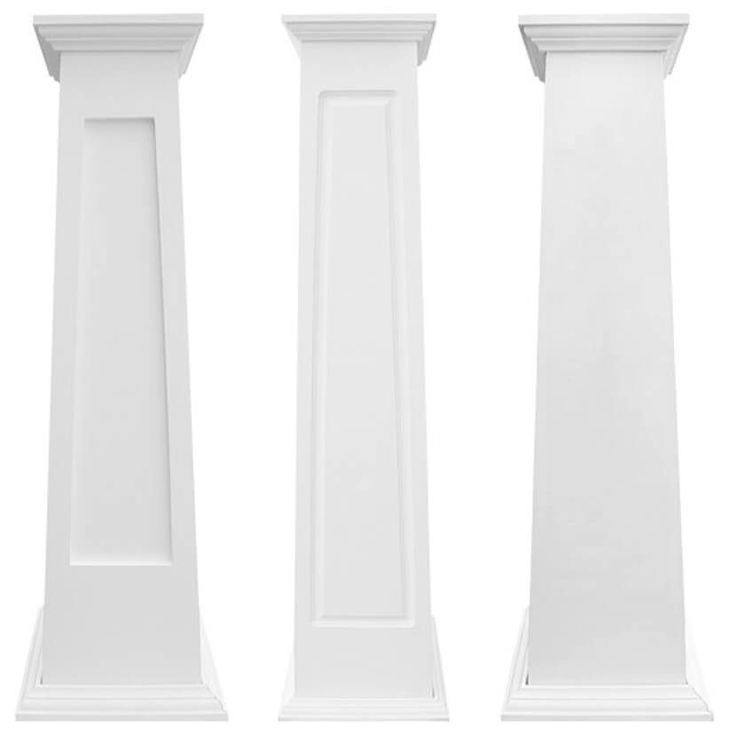 PVC Column Wraps Tapered