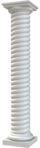 Round Non-Tapered Twist (Rope) Column