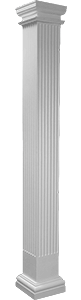 Square Non-Tapered Fluted Column