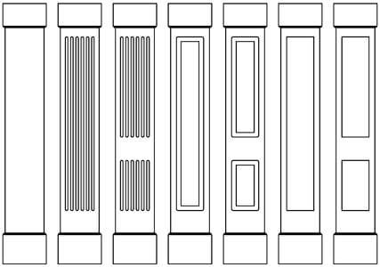 Square Non-Tapered PVC Column Wraps