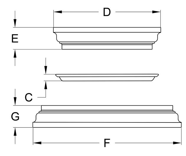 Craftsman Cap Base Set Dimensions