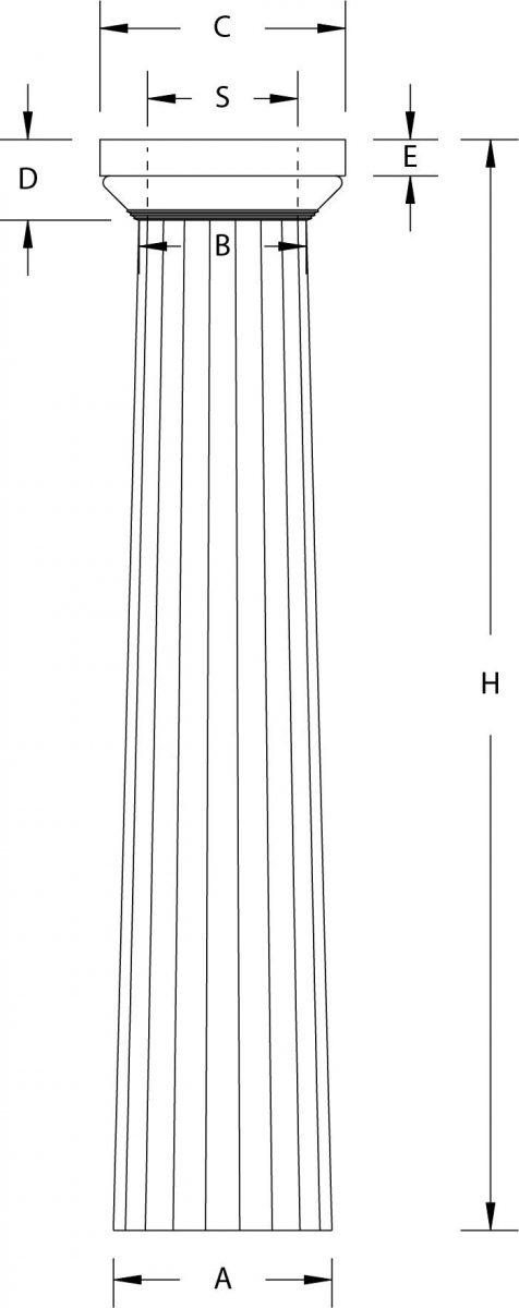 Greek Doric Column Line Drawing
