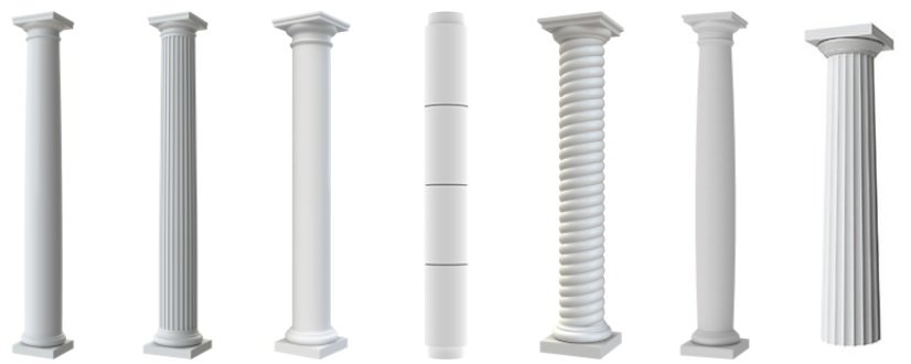 Round Fiberglass Porch Columns