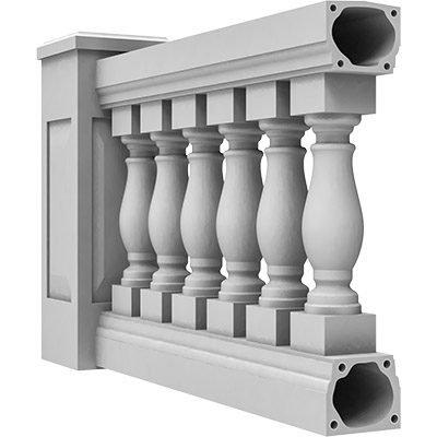 "7-1/2"" Fiberglass Balustrade System"