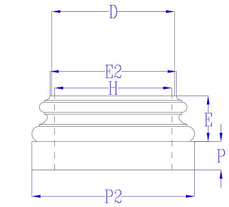 Column Base Line Drawing