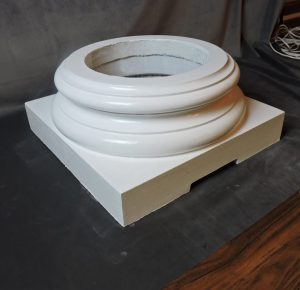 Vented Replacement Fiberglass Base for Wood Columns