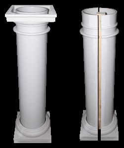 Fiberglass Column versus Column Cover