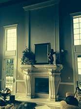 Cast Stone GFRC Fireplace Surround Ruffled Feathers Vi