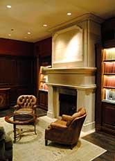Cast Stone GFRC Fireplace Surround Union Club